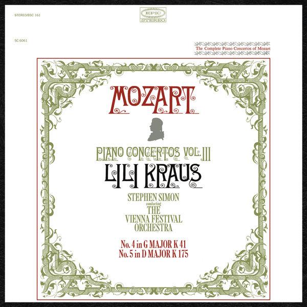Lili Kraus - Mozart: Piano Concertos, vol. 3 (Nos. 4 & 5)