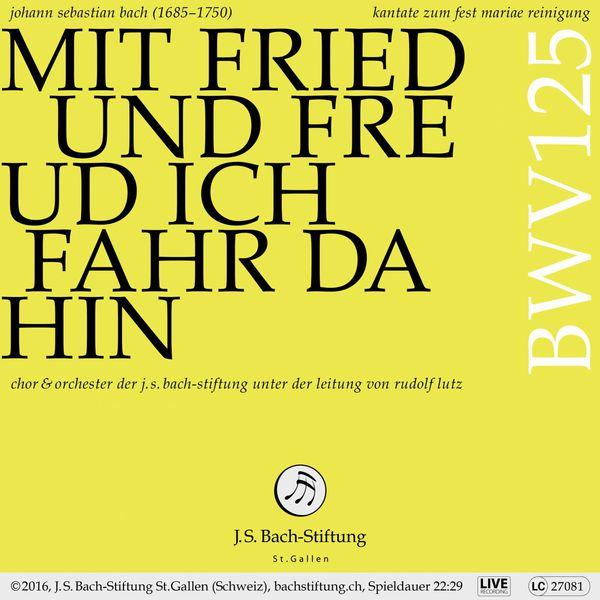 Chor der J. S. Bach-Stiftung - Bachkantate, BWV 125 - Mit Fried und Freud ich fahr dahin (Live)