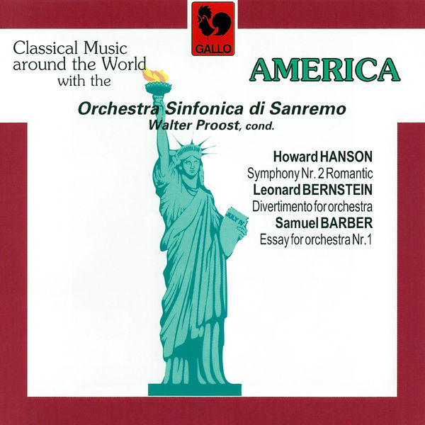 """Howard Hanson - Hanson: Symphony No. 2, Op. 30 """"Romantic"""" – Bernstein: Divertimento for Orchestra & Barber: Essay No. 1 for Orchestra, Op. 12 (Live)"""