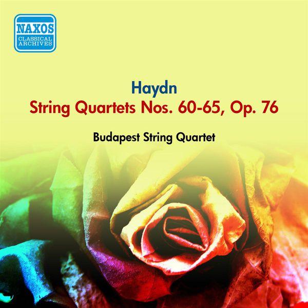 Budapest String Quartet - Haydn, J.: String Quartets Nos. 60-65, Op. 76 (Budapest String Quartet) (1954)