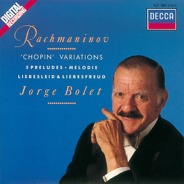 Jorge Bolet - Rachmaninov: Solo Piano Works