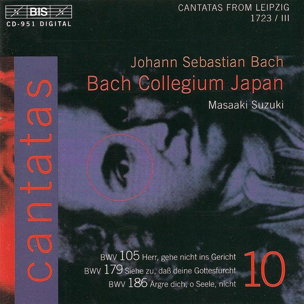 Miah Persson - BACH, J.S.: Cantatas, Vol. 10 (Suzuki) - BWV 105, 179, 186