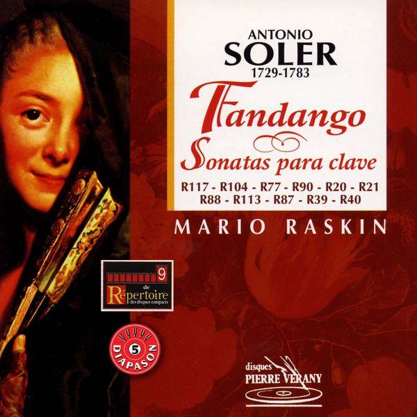 Mario Raskin - Soler  : Fandango y sonatas para clave