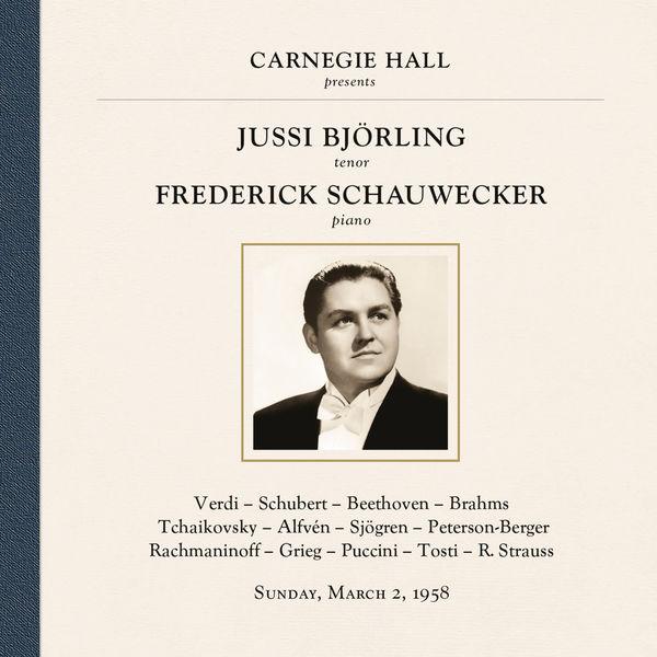 Jussi Björling - Jussi Björling at Carnegie Hall, New York City, March 2, 1958