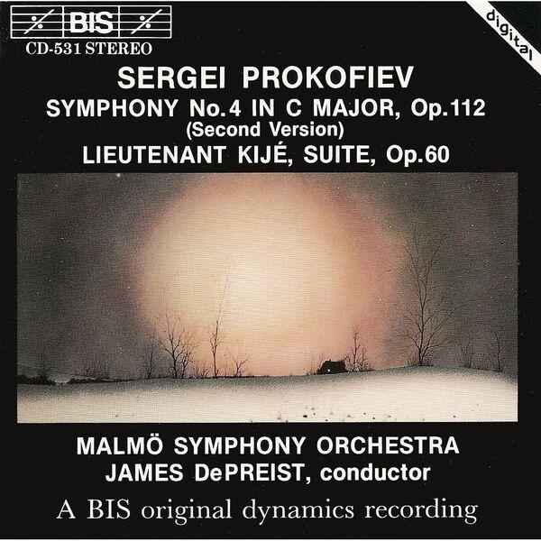Malmö Symphony Orchestra|PROKOFIEV: Symphony No. 4 / Lieutenant Kije, Op. 60