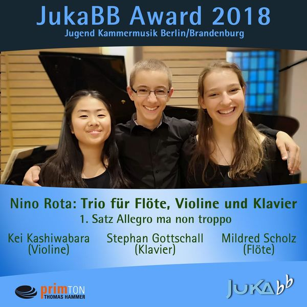 Mildred Scholz - Nino Rota: Trio für Flöte, Violine und Klavier: I. Allegro ma non troppo