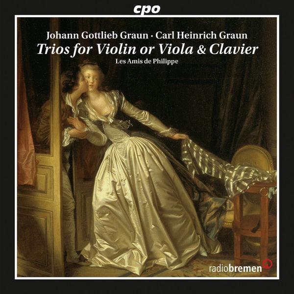 Les Amis de Philippe|Graun: Trios for Violin or Viola & Clavier