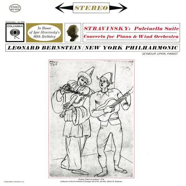 Leonard Bernstein - Stravinsky: Concerto for Piano and Wind Instruments & Pulcinella Suite ((Remastered))