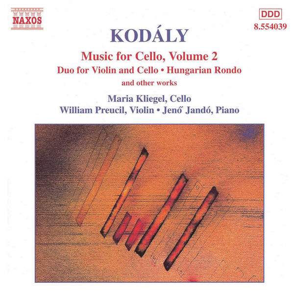 Jeno Jando - KODALY: Duo for Violin and Cello / Hungarian Rondo / Adagio for Cello / Sonatina