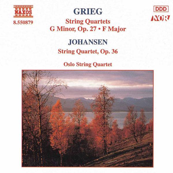 Edvard Grieg - String Quartets Nos. 1 and 2 / JOHANSEN