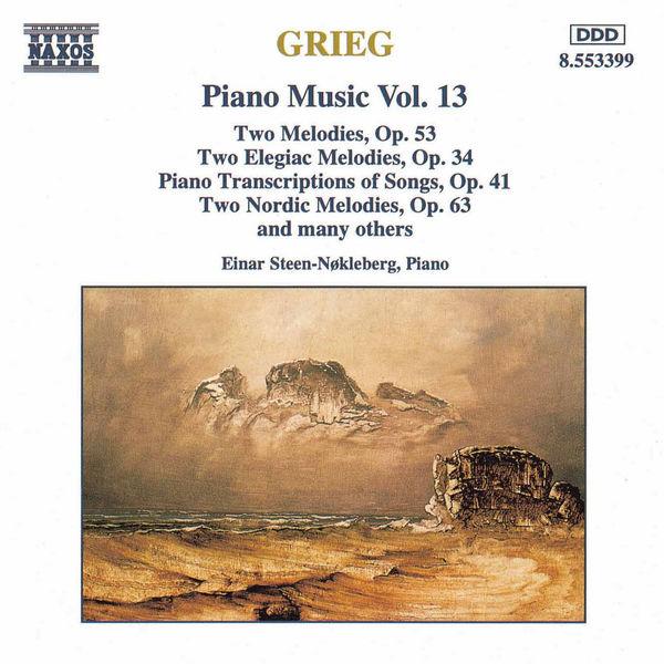 Einar Steen-Nøkleberg - Piano Transcriptions of Songs, Op. 41 / Nordic Melodies, Op. 63