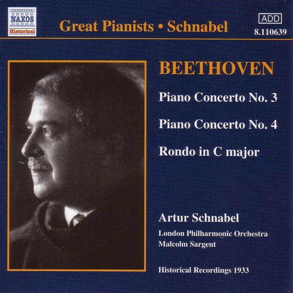 Artur Schnabel - Beethoven : Piano Concertos Nos. 3 and 4 (1933)