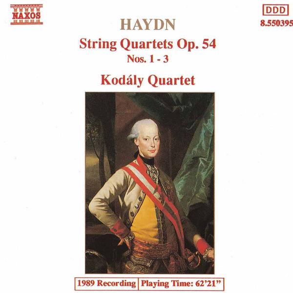 Kodaly Quartet - HAYDN: String Quartets Op. 54, Nos. 1- 3