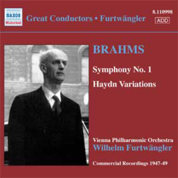 Wilhelm Furtwängler - BRAHMS: Symphony No. 1 / Haydn Variations (Furtwangler, Commercial Recordings 1940-50, Vol. 5)