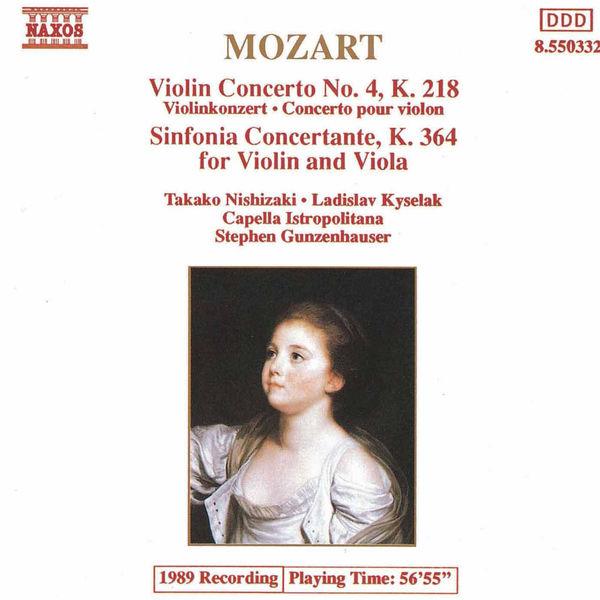 Takako Nishizaki - MOZART: Violin Concerto No. 4 / Sinfonia Concertante