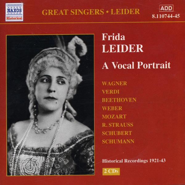 Frida Leider - LEIDER, Frida: A Vocal Portrait (1921-1943)