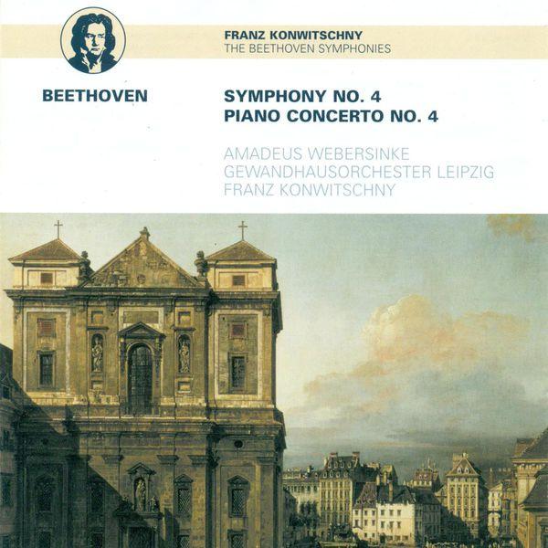 Franz Konwitschny - BEETHOVEN, L. van: Symphony No. 4 / Piano Concerto No. 4 (Webersinke, Leipzig Gewandhaus Orchestra, Konwitschny)