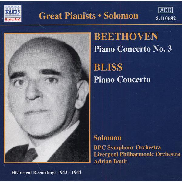 Cutner, Solomon - BEETHOVEN / BLISS: Piano Concertos (Solomon) (1943-1944)