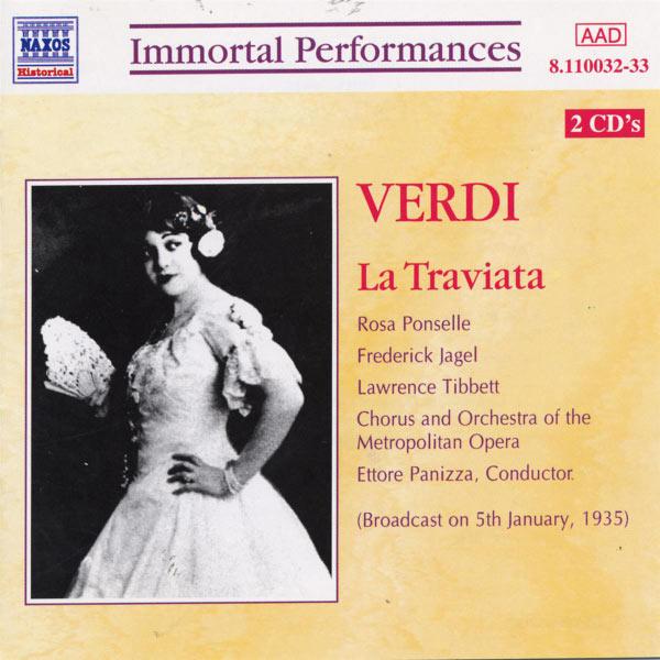 Frederic Jagel - VERDI : La Traviata (Tibbett / Jagel / Ponselle)