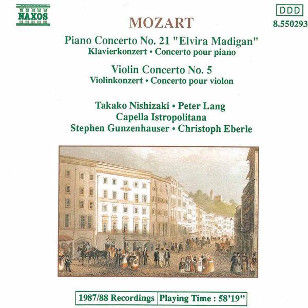 Takako Nishizaki - MOZART: Piano Concerto No. 21 / Violin Concerto No. 5