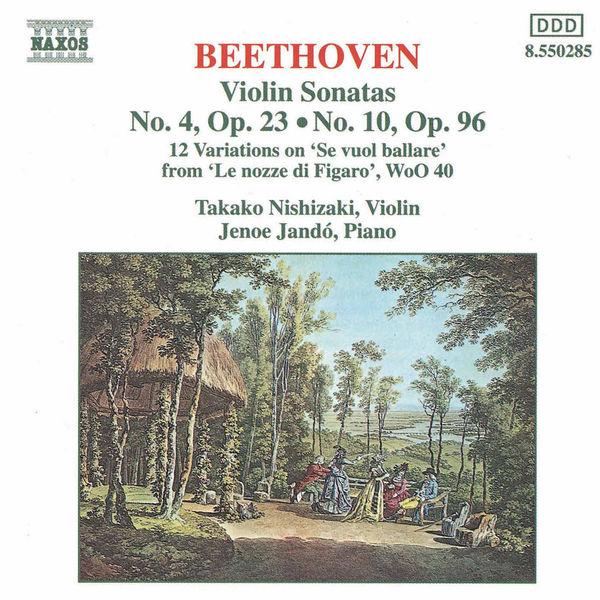 Takako Nishizaki - BEETHOVEN: Violin Sonatas Opp. 23 and 96 / 12 Variations