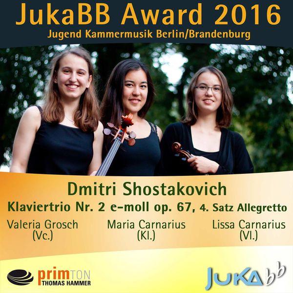 Lissa Carnarius - Trio für Violine, Violoncello und Klavier E Minor, op. 67: IV. Allegretto