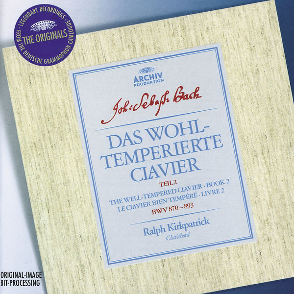 Ralph Kirkpatrick - Bach: The Well-tempered Clavier, Book II