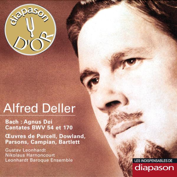 Alfred Deller|Bach: Agnus Dei & Cantates BWV 54 & 170 - Œuvres de Purcell, Dowland, Parsons, Campian & Bartlett(Diapason n°558)