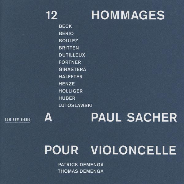 Thomas Demenga - 12 Hommages à Paul Sacher pour Violoncelle