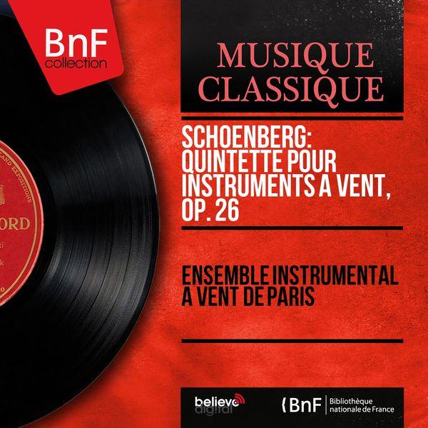 Ensemble Instrumental à Vent de Paris - Schoenberg : Quintette pour instruments à vent (Mono, 1961)