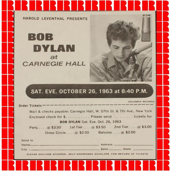 Bob Dylan - Live At Carnegie Hall 1963 (Hd Remastered Edition)