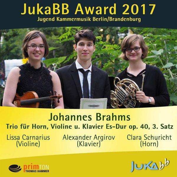 Clara Schuricht - Trio für Horn, Violine und Klavier E-Flat Major, op. 40: III. Adagio mesto
