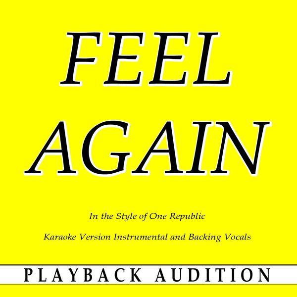 Album Feel Again (In the Style of One Republic) [Karaoke