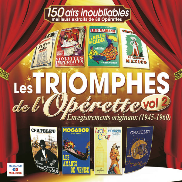 Various Interprets - Les triomphes de l'opérette, Vol. 2 (1945-1960)