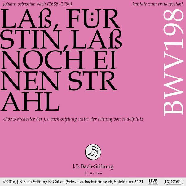 Chor der J. S. Bach-Stiftung - Bachkantate, BWV 198 - Laß, Fürstin, laß noch einen Strahl (Live)