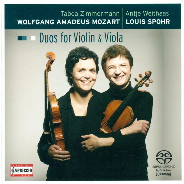 Antje Weithaas|Mozart, W.A.: Duos for Violin and Viola - K. 423, 424 / Spohr, L.: Duo for Violin and Viola, Op. 13