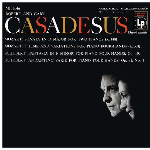 Robert Casadesus - Mozart: Sonata for 2 Pianos, K. 448 & Andante with 5 Variations, K. 501 - Schubert: Fantasia, D. 940 & Andantino varié, D. 823