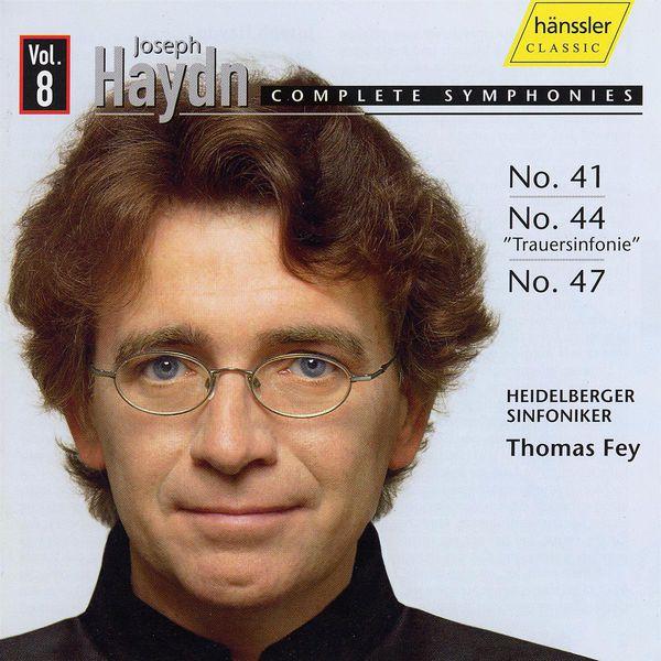 Thomas Fey - HAYDN, J.: Symphonies, Vol.  8 (Fey) - Nos. 41, 44, 47