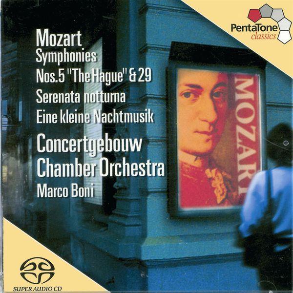 Concertgebouw Chamber Orchestra - Mozart : Symphonies n°5 & 29 - Sérénades n°6 & 13