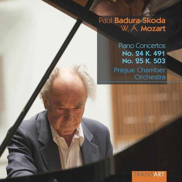 Paul Badura-Skoda - Wolfgang Amadeus Mozart : Piano concertos No. 24, K. 491 & No. 25, K. 503