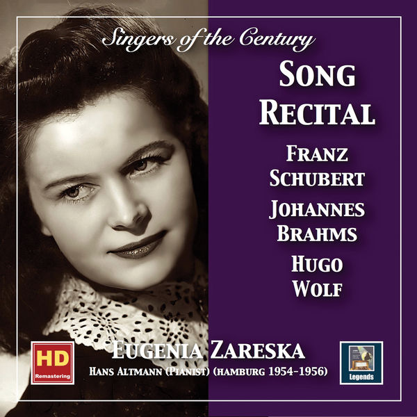 Johann Wolfgang von Goethe - Singers of the Century: Eugenia Zareska Song Recital (2019 Remaster)