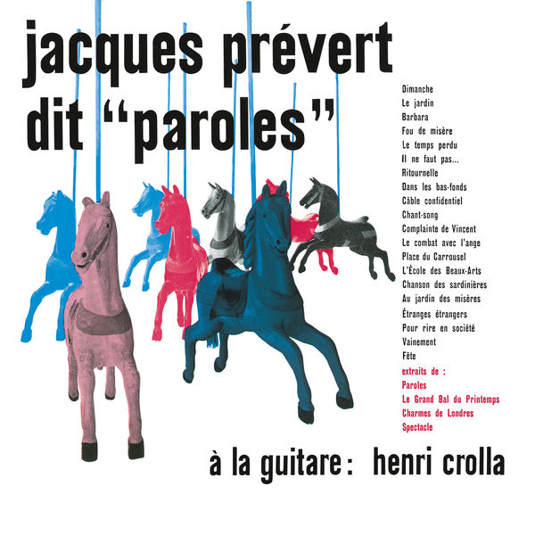 Album Jacques Prévert Dit Paroles By Jacques Prévert