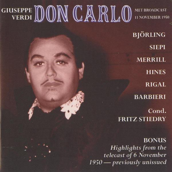 Jussi Björling - Verdi: Don Carlo
