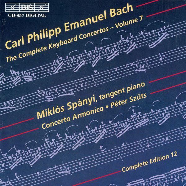 Miklos Spanyi - BACH, C.P.E.: Keyboard Concertos (Complete), Vol.  7