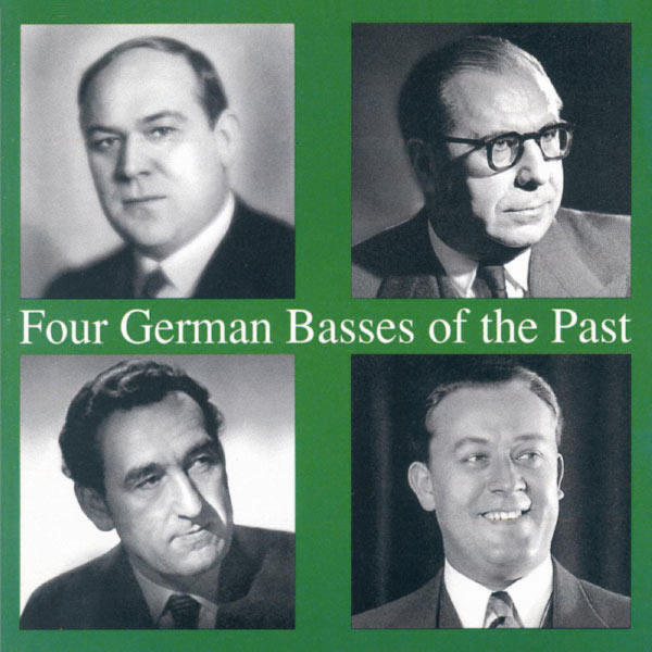 Georg Hann - Four German Basses of the Past