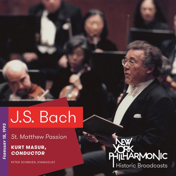 New York Philharmonic - J.S. Bach: St. Matthew Passion (Recorded 1993)
