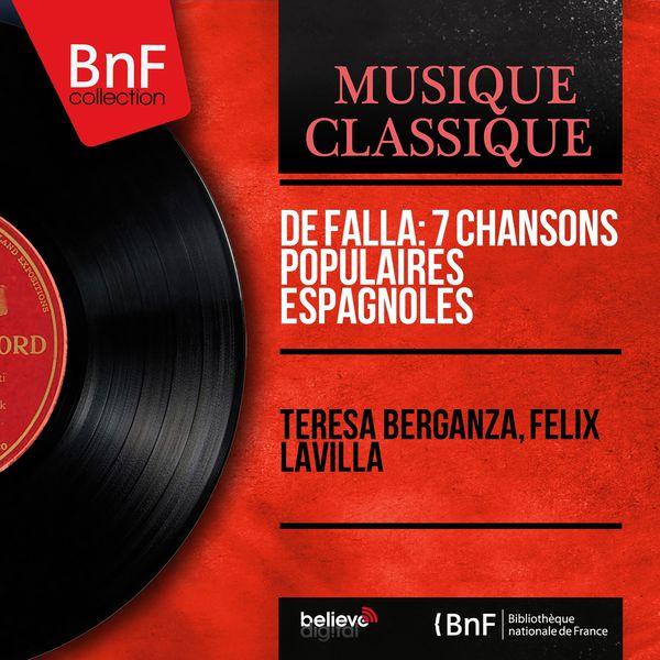 Teresa Berganza - De Falla: 7 Chansons populaires espagnoles (Mono Version)