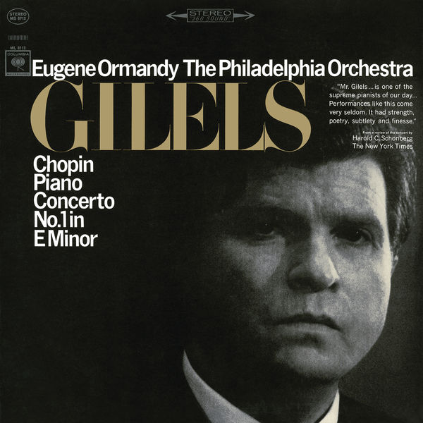 Emil Gilels - Chopin: Piano Concerto No. 1 in E Minor, Op. 11