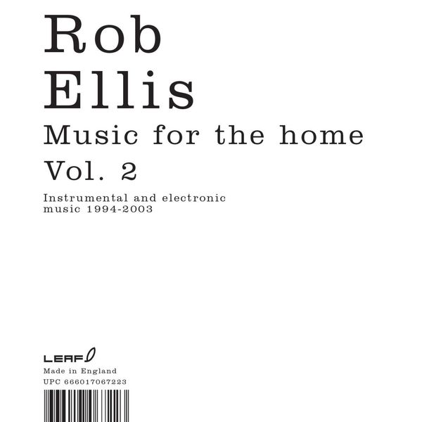 Rob Ellis - Music for the Home, Vol. 2