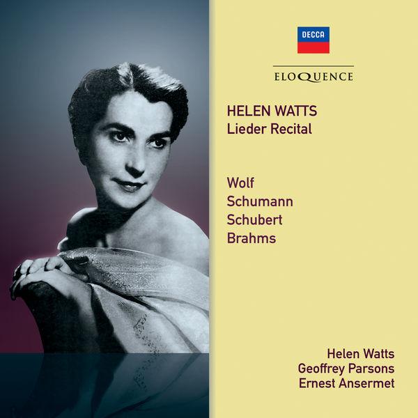 Helen Watts - Helen Watts – Lieder Recital